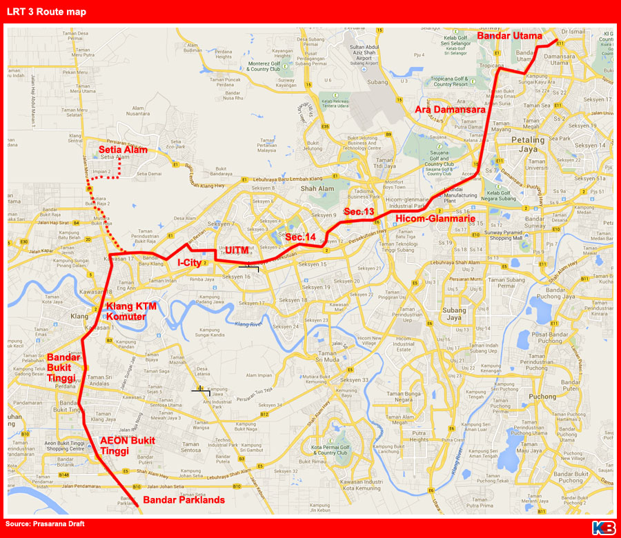 LRT 3 route map 170714